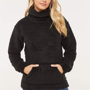 Ardene teddy cowl neck top, faux sherpa